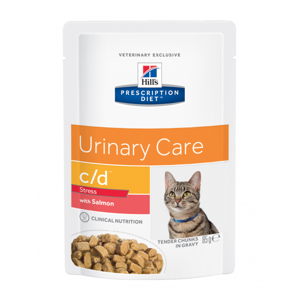 Hill's Prescription Diet Feline c/d Urinary Stress Salmon annospussit 12x85 g