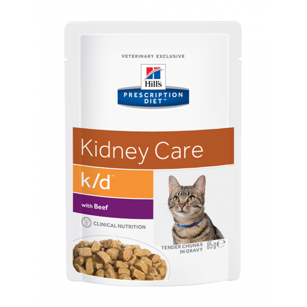 Hill's Prescription Diet Feline k/d with Beef annospussit 12x85 g
