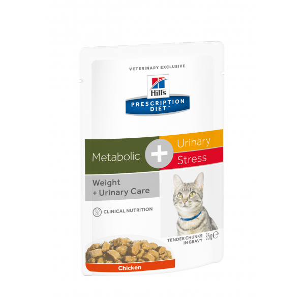 Hill's Prescription Diet Feline Metabolic+Urinary Stress annospussit 12x85 g