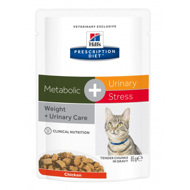 Hill's™ Prescription Diet™ Feline Metabolic+Urinary Stress annospussit 12x85 g