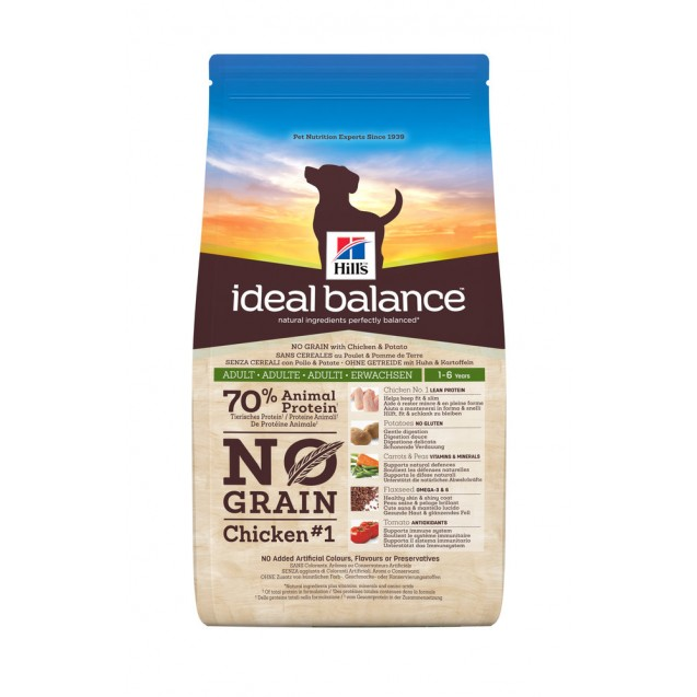 Hill's Ideal Balance Canine Adult No Grain Chicken & Potato 2 kg