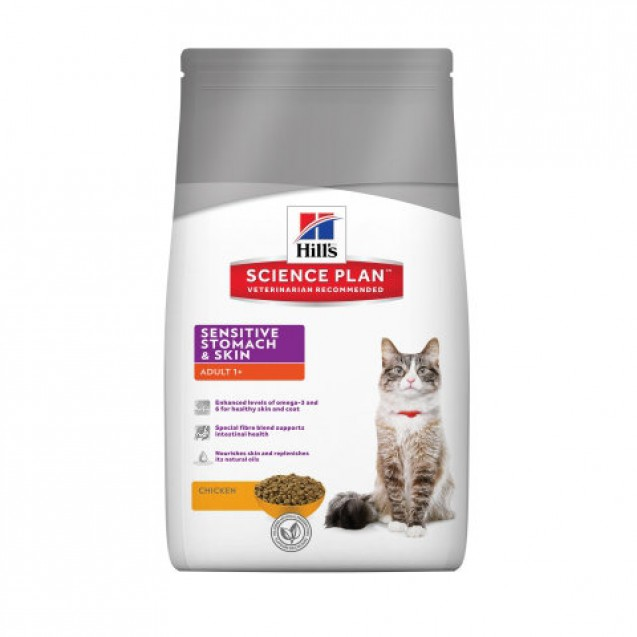 Hill's Science Plan Feline Adult Sensitive Stomach and Skin 1,5 kg