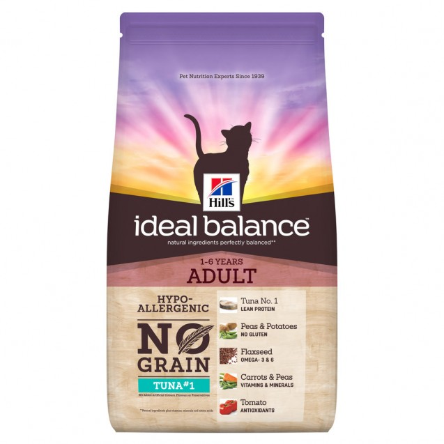 Hill's Ideal Balance Feline Adult No Grain Tuna & Potato 1,5 kg