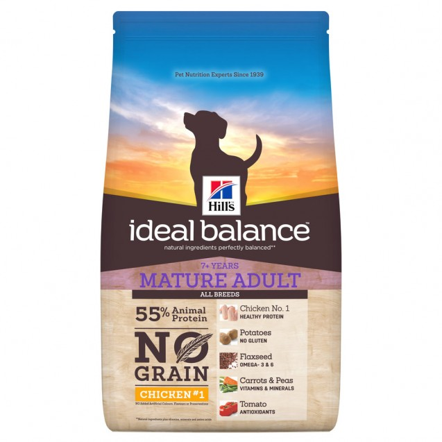 Hill's Ideal Balance Canine Mature Adult 7+ No Grain Chicken & Potato 12 kg