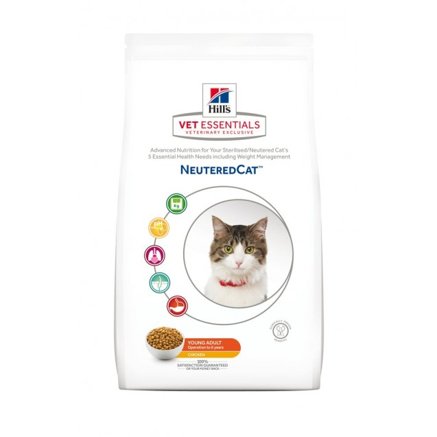 Hill's Vet Essentials Feline Neutered Cat Young Adult 8 kg