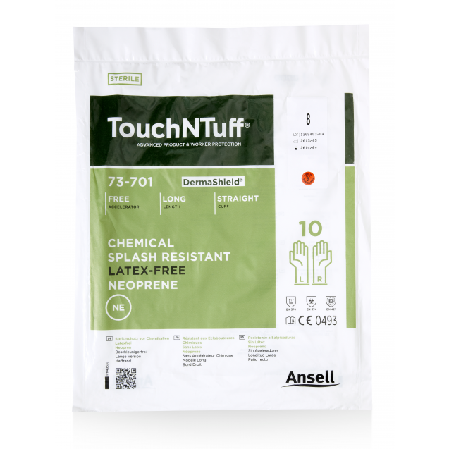 TouchNTuff® DermaShield® 73-701 8,0 10 paria