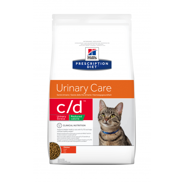 Hill's Prescription Diet Feline c/d Urinary Stress Reduced Calorie 4 kg