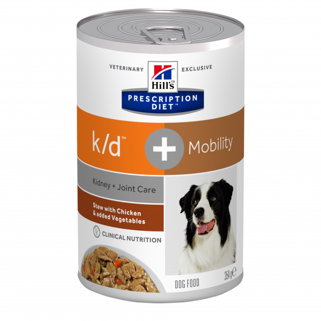 Hill's Prescription Diet Canine k/d+Mobility muhennos 12x354 g