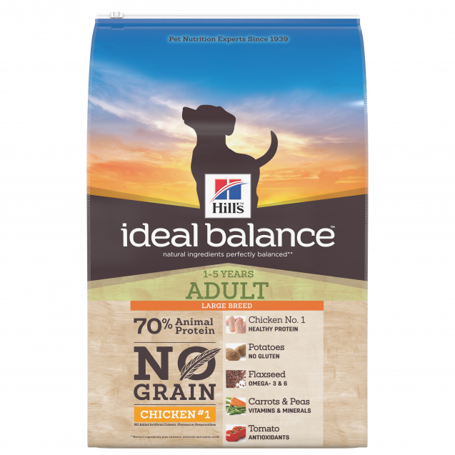 Hill's Ideal Balance Canine Adult No Grain Large Breed Chicken & Potato 12 kg