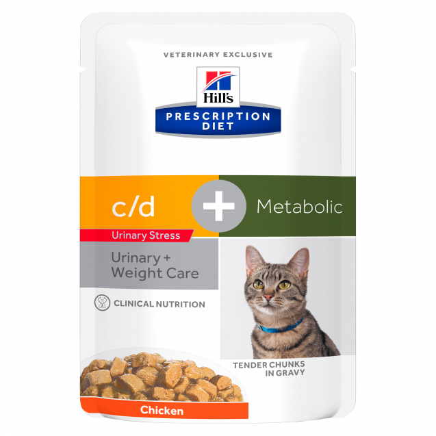 Hill's Prescription Diet Feline c/d Urinary Stress + Metabolic annospussit 12x85g