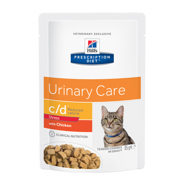 Hill's Prescription Diet Feline c/d Urinary Stress Reduced Calorie 12x85 g
