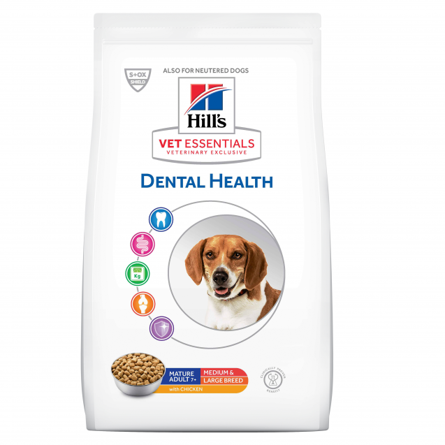 Hill's Vet Essentials Canine Mature Adult Dental Health Medium & Large Breed 10 kg